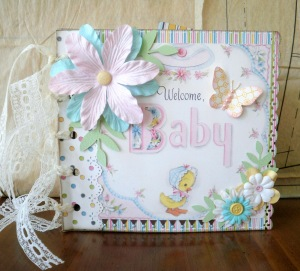 A traditional baby album (http://lindseyspaperscraps.blogspot.com)