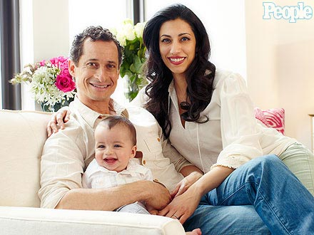 Anthony Weiner, Huma Abedin, and their son Jordan (People.com).