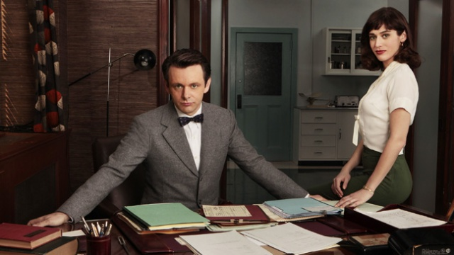 William Masters and Virgina Johnson in his office (hollywoodreporter.com)