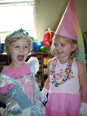 The pure joy of playing princess with a friend (http://mamasmagic.blogspot.com).