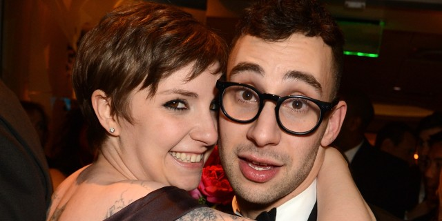 Lena Dunham and her boyfriend (huffingtonpost.com). Does he think she's funny?