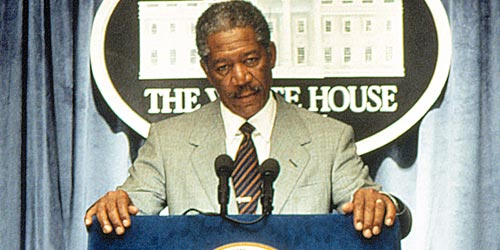 Morgan Freeman, America's first black president (eurweb.com).