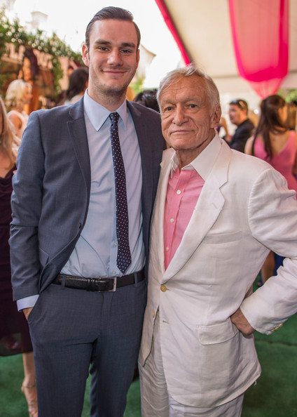 Cooper Hefner and his father, the world's most famous playboy (zimbio.com)